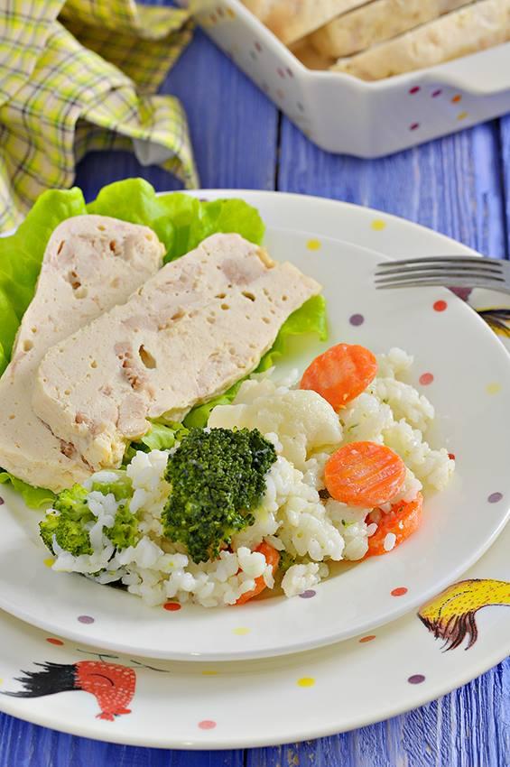 Рецепт диетического куриного террина