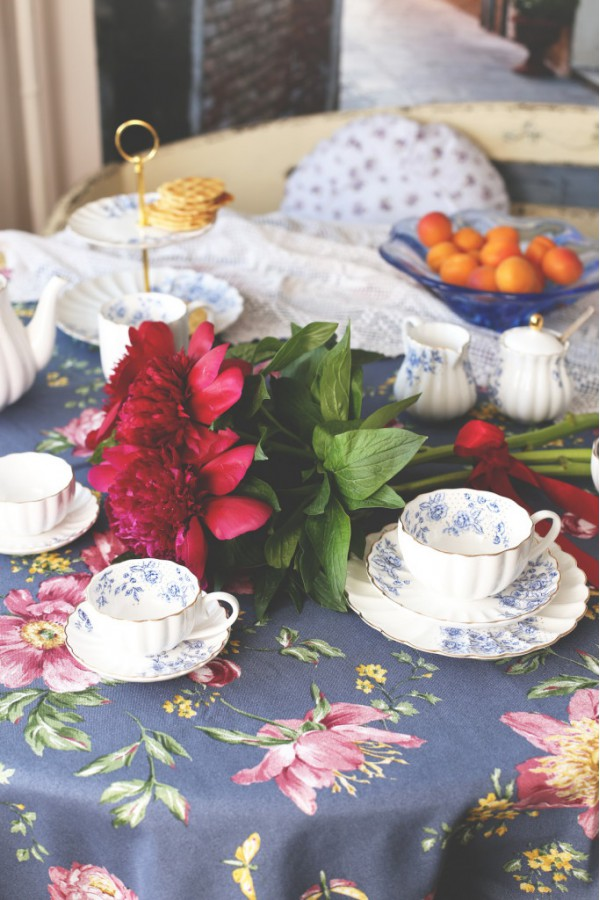 Чайный сервиз Blu Peonies