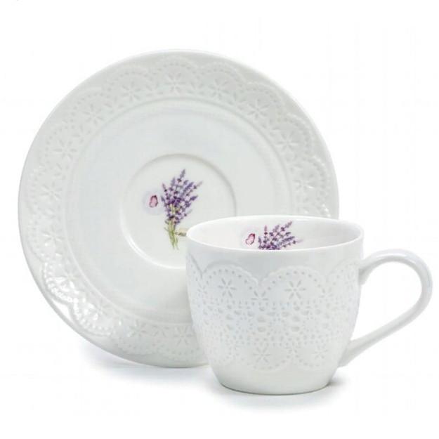 Чашка с блюдцем Уютный Дом-Лаванда