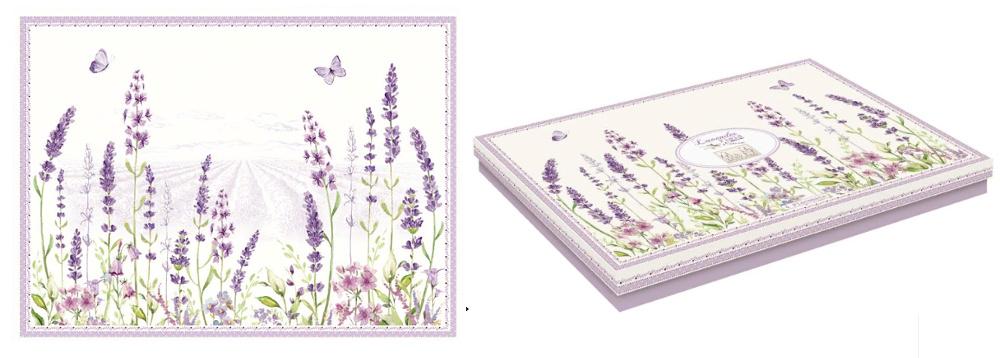 Набор из 4 подставок под горячее Lavender field в подарочной упаковке