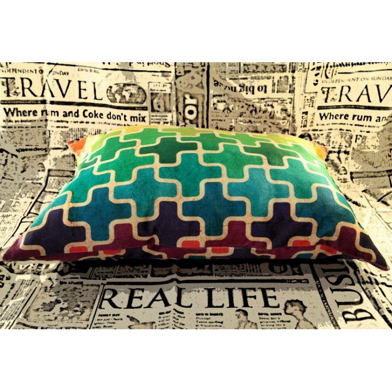 Бархатная подушка Пазлы