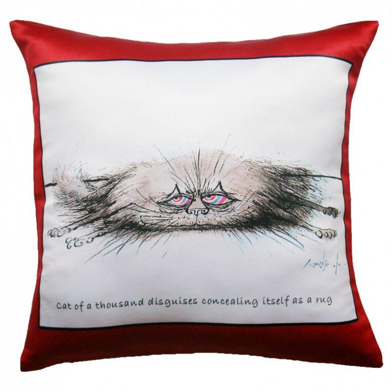 Прикольная декоративная подушка Коты-17