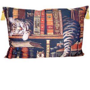 Декоративная подушка Котик книголюб 50 х 70 см