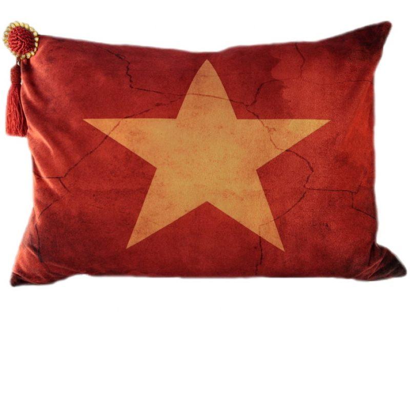 Бархатная подушка Звезда