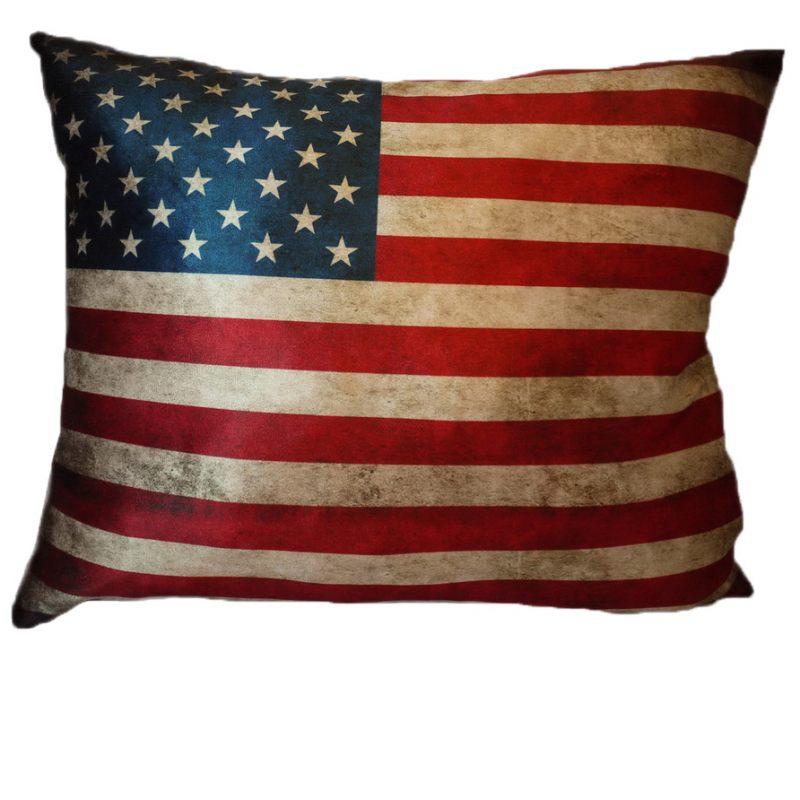 Бархатная подушка Американский флаг