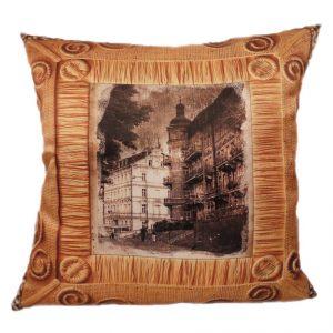 Декоративная подушка Ретро город