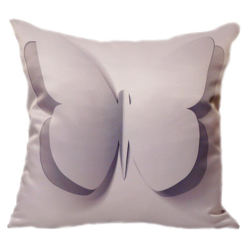 Подушка Бабочка 3D белая