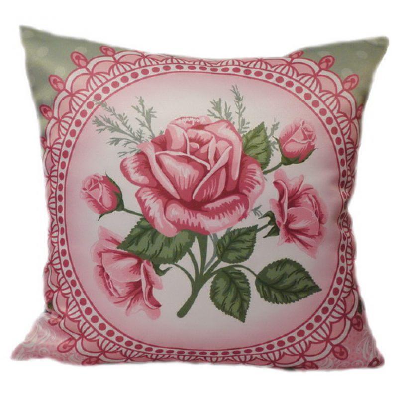 Подушка шебби rose 2