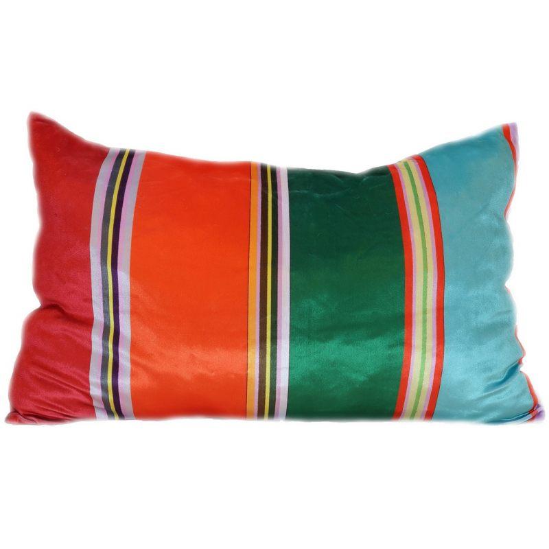 Бархатная подушка Яркие полосы
