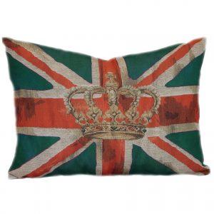 Британский флаг в зеленом