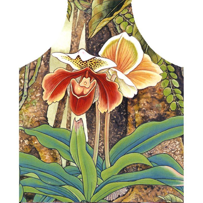 Фартук с орхидеей