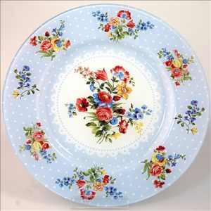 Тарелка 32 см - голубая