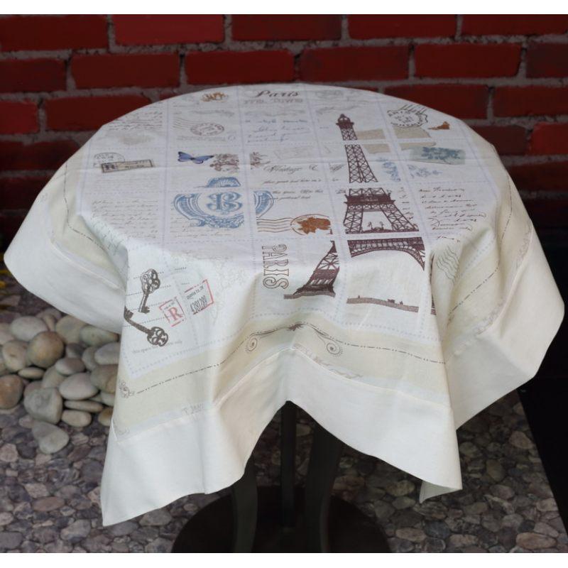 Льняная салфетка-скатерть Мой Париж