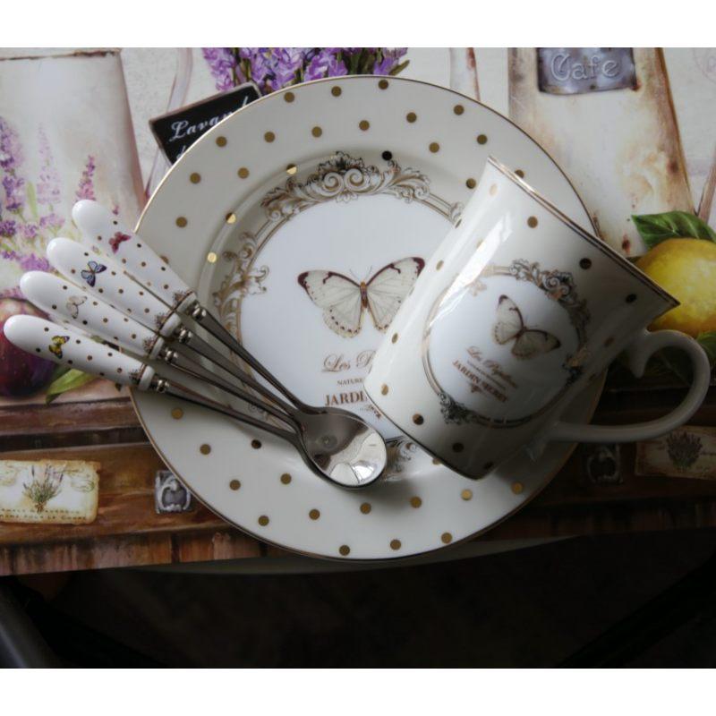 Набор десертные тарелки 4 шт 19 см Элеганс-бабочки