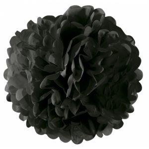 Цветок бумажный черный