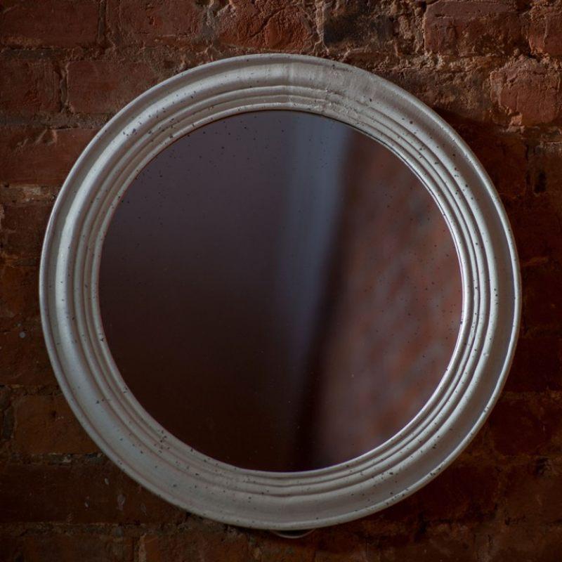 круглое зеркало в деревянной раме доставка по москве и
