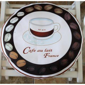 Круглая сидушка Время пить кофе