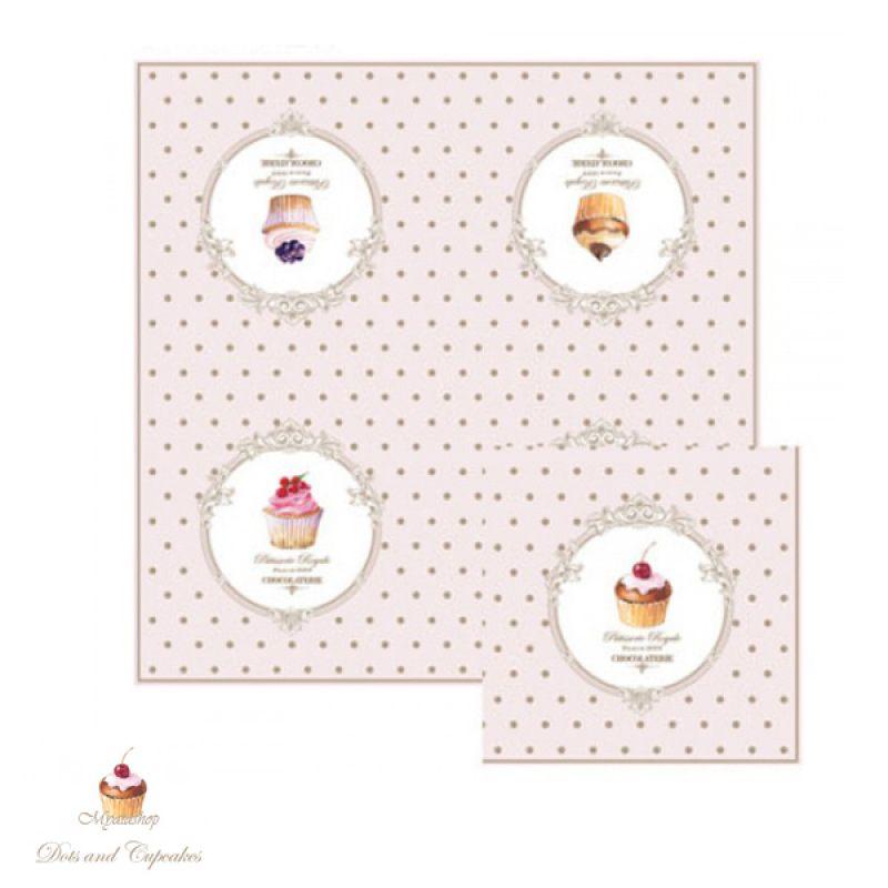 Салфетки бумажные Элеганс-Пирожные