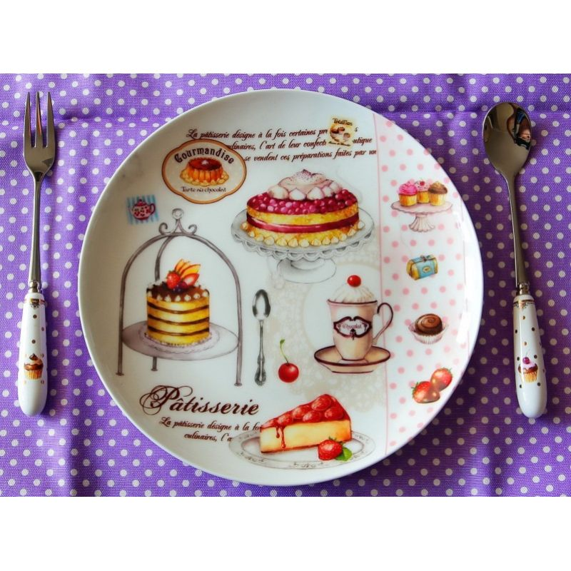 Набор из четырех вилок для торта Элеганс-Пирожные