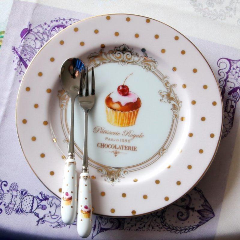 Набор из четырех десертных тарелок Элеганс-Пирожные