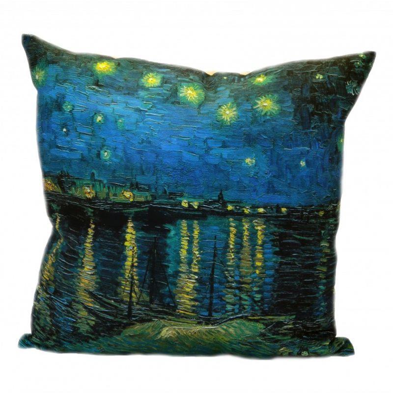 Льняная подушка  Звездная ночь над Роной