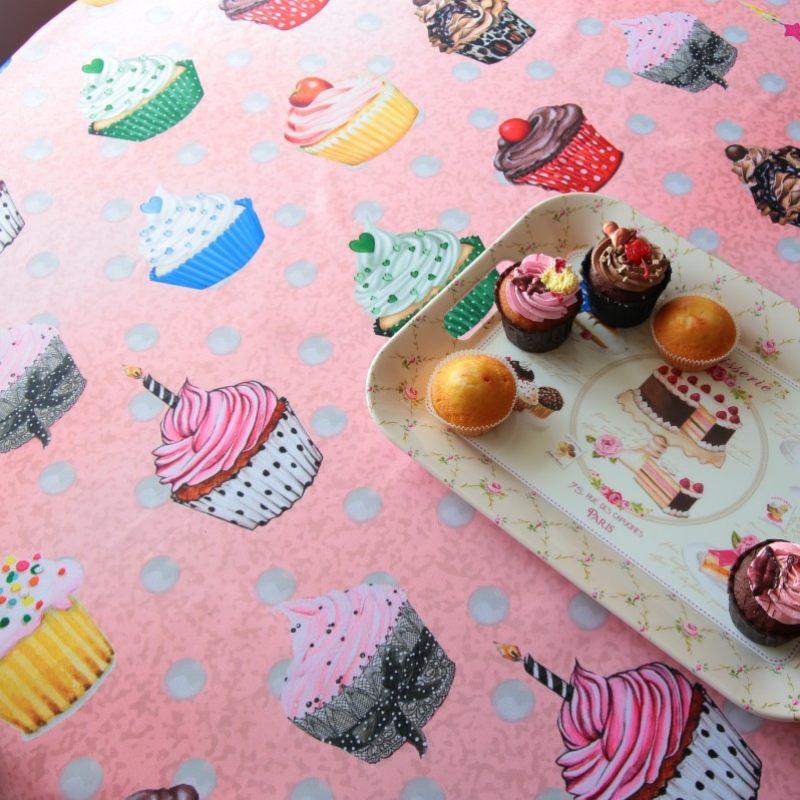 Скатерть розовая десертная
