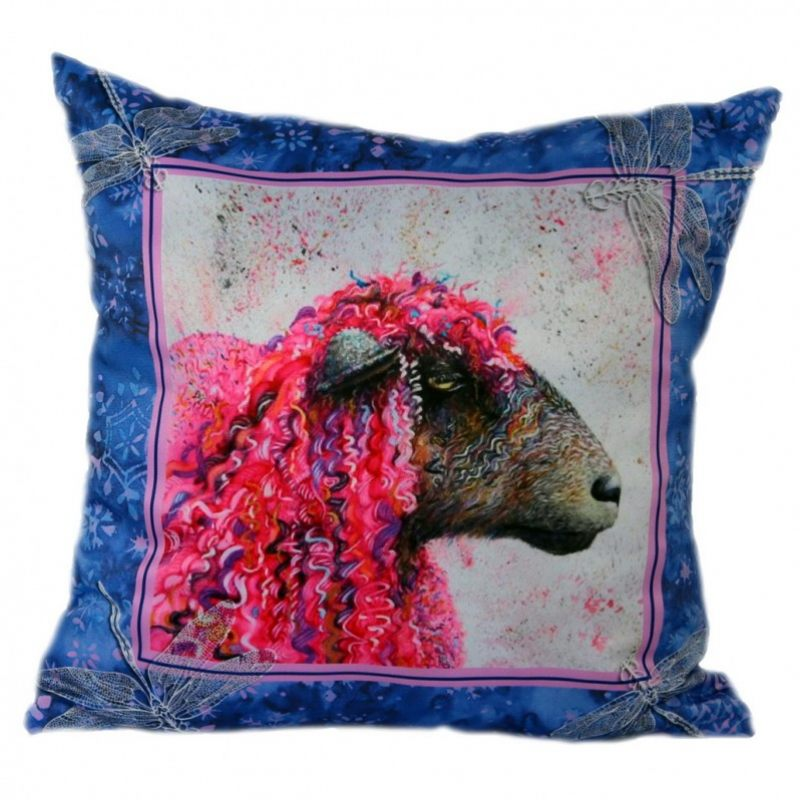 Декоративная подушка Розовая овечка