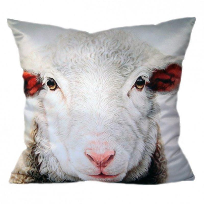 Декоративная подушка Овечка белая
