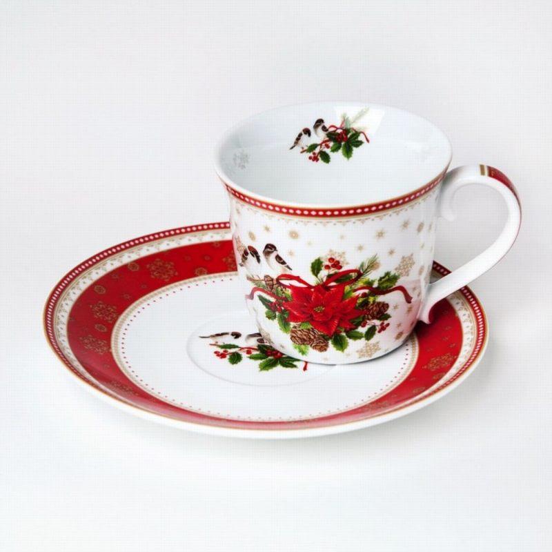 Чашка с блюдцем Счастливый Новый Год