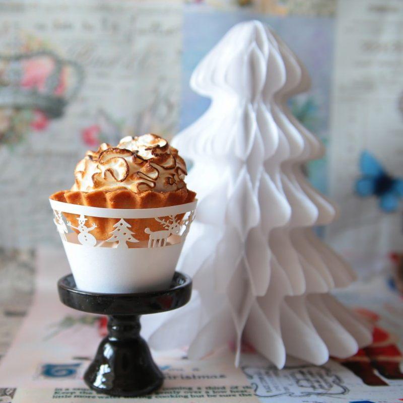 Новогодняя форма для капкейков Белая