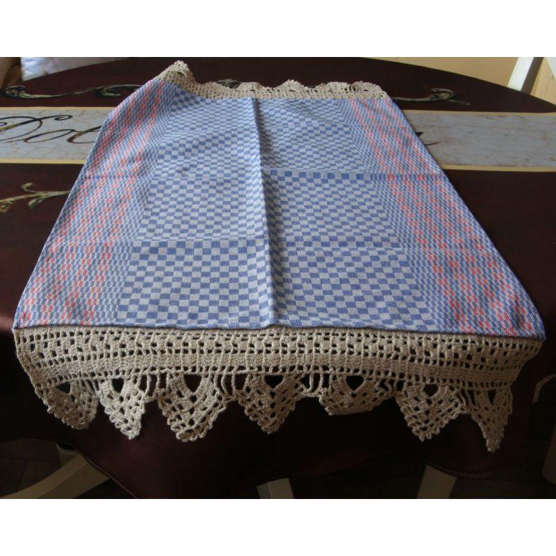Льняное полотенце В клеточку