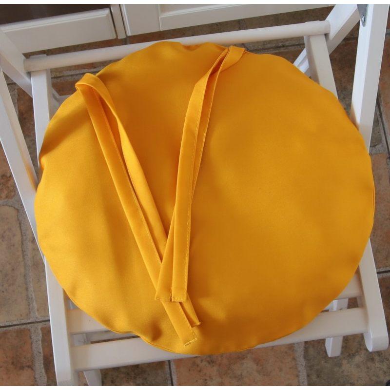 Круглая сидушка Желтый кот 6