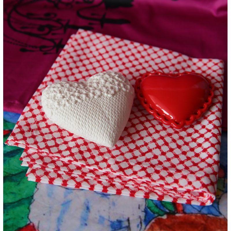 Подвеска Белое сердце