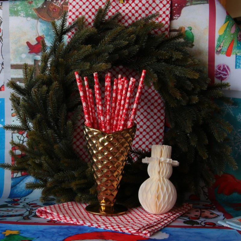 Набор соломинок Снежинка