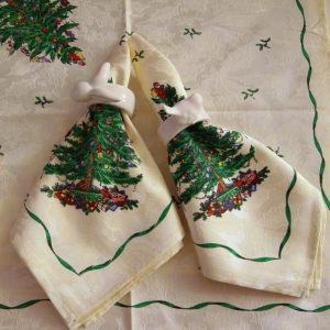 Салфетка с новогодней елочкой