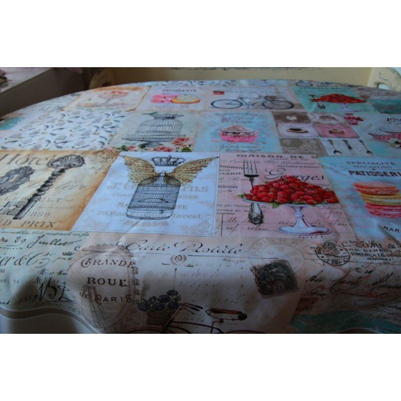 Скатерть на овальный стол Полный Прованс