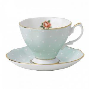 Чашка с блюдцем для Эспрессо Polka Rose