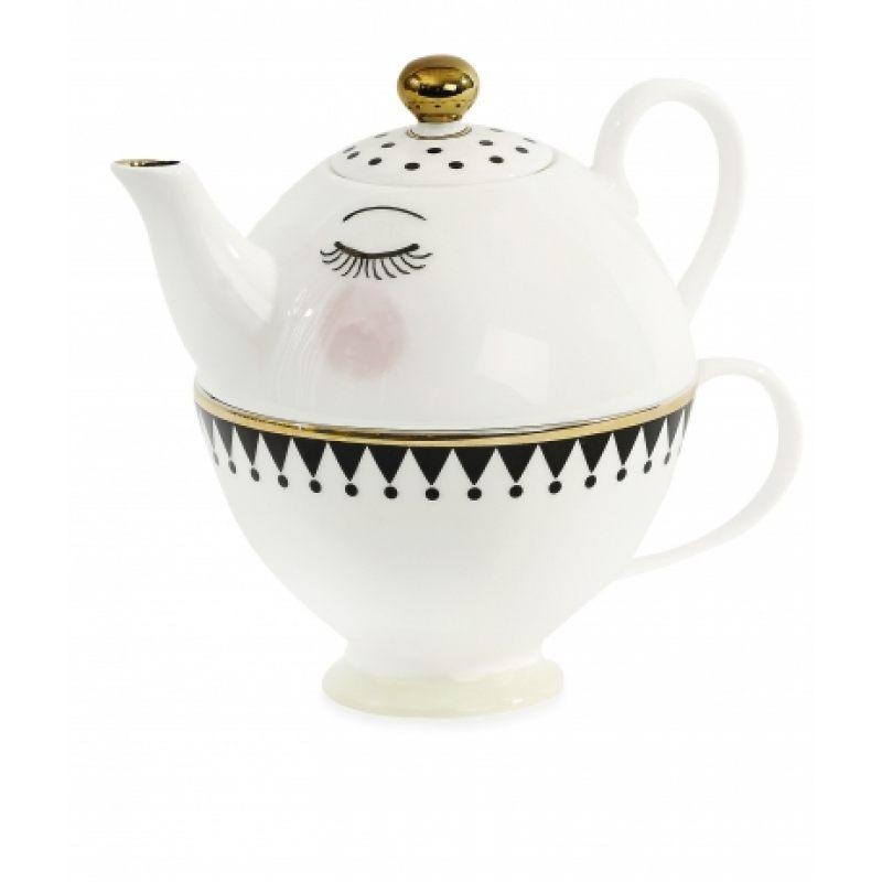 Мини чайник/чашка с симпатичными глазками