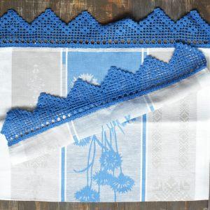 Кухонное льняное полотенце Василек