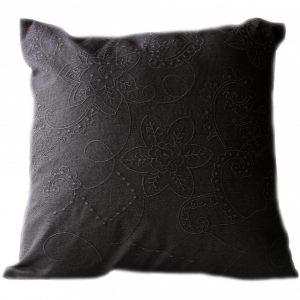 Подушка с объемным орнаментом Шоколад