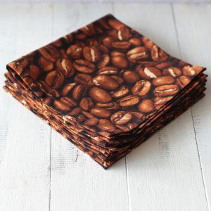 Хлопковые салфетки Зерна кофе
