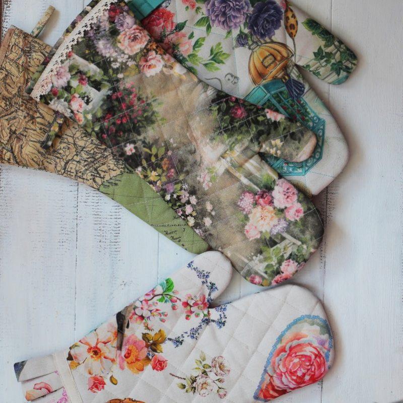 Рукавица Цветы