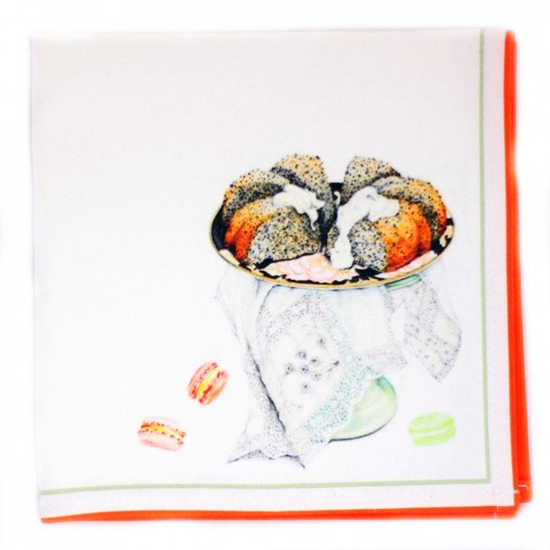 Салфетка Чаепитие с маковым пирогом