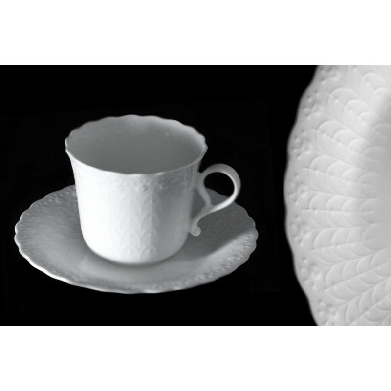 Набор из 6 кофейных чашек с блюдцами Шёлк
