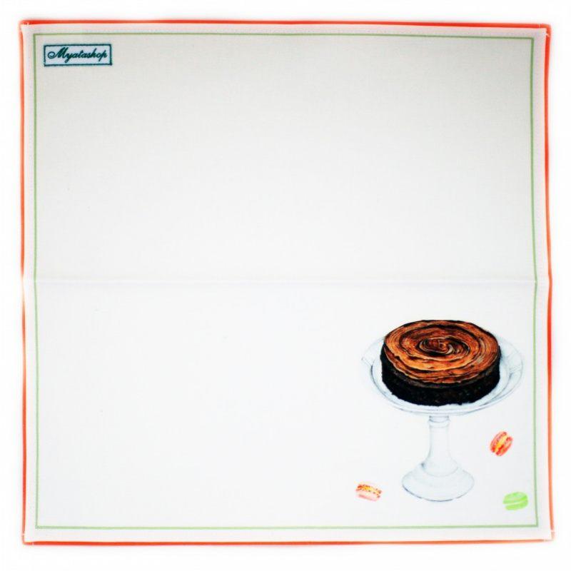 Салфетка Чаепитие с шоколадным тортом