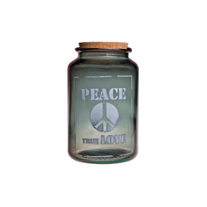 Банка стеклянная для продуктов PEACE TRUE LOVE 3,1 л