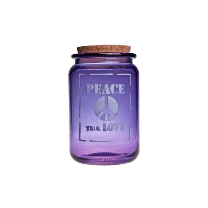 Банка для хранения фиолетовая PEACE TRUE LOVE 1,4 л