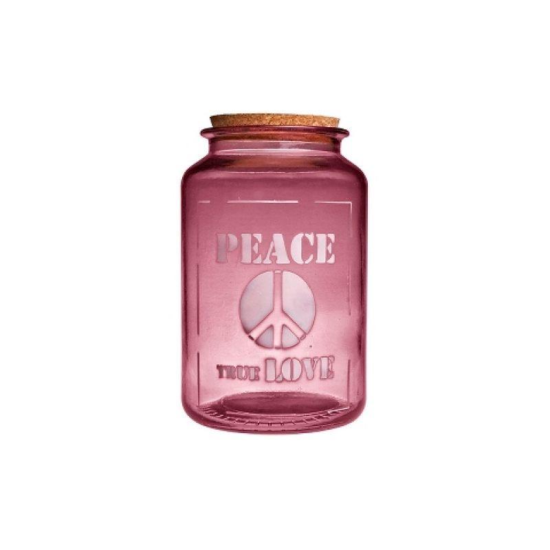Банка розовая PEACE TRUE LOVE 3,1 л