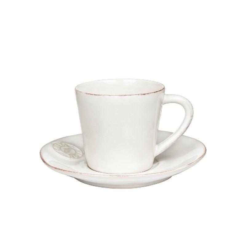 Чайная пара COSTA NOVA белый 190 мл