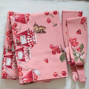 Комплект штор Вишневое варенье в розовом